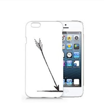 Black Arrow Iphone 6 Case, Iphone 6 Case Plastic Hard White Case Unique Design-Quindyshop (AM468)