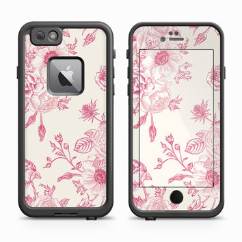 Salmon Vector Flower Buds Skin for the Apple iPhone LifeProof Fre Case