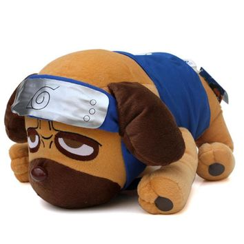 Naruto Sasauke ninja 40cm Anime Cartoon  Kakashi Pakkun Dog Plush Toys Doll Pakkun Dog Plush Soft Stuffed Animals Toys for Children Kids Gifts AT_81_8