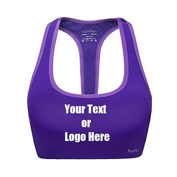 01c327f79a180 Custom Personalized Designed Workout Sports Bra Removeable Pads