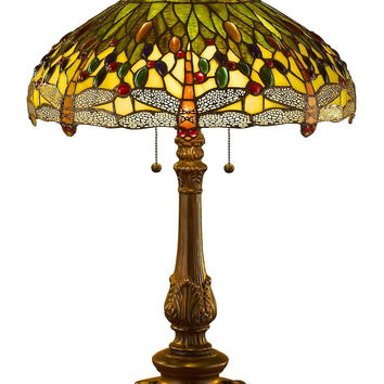 Tiffany Style Dragonfly Table Lamp 26 Inches