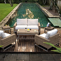 Thos. Baker 5-piece outdoor lounge seating set from the palms collection