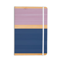 "KESS Original ""Spring Swatch - Blue Lavender"" Purple Wood Everything Notebook"