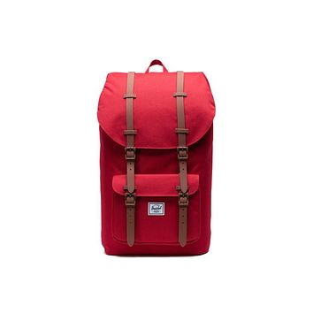 Herschel Supply Co. - Little America Red Saddle Brown Backpack