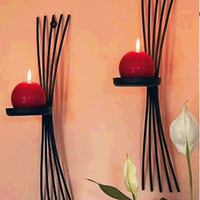 2pcs/pack European style metal candle holders wall candle stand cast Iron home decoration art decor accent