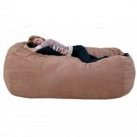Cozy Sack 7-Feet Bean Bag Chair, X-Large, Rust