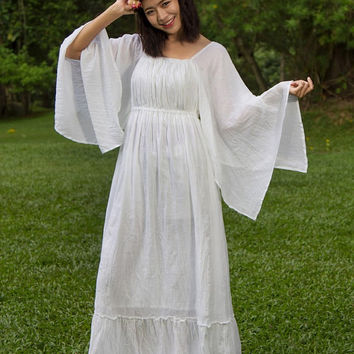 YOU DESIGN Plus Size Tunic Dress Size XS-4X, Plus Size Clothing, White Dress,Bohemian White Dress, White Hippie Boho Dress, Bohemian Clothes