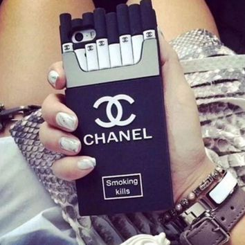 "Hot Sale ""CHANEL"" Popular Classic Cigarette iPhone Phone Cover Case For iphone 6 6s 6plus 6s-plus 7 8plus I"