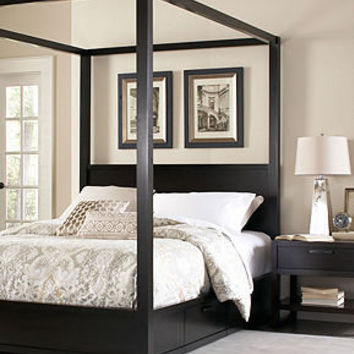 Tahoe Noir Canopy Bedroom Furniture Collection - Bedroom Furniture - furniture - Macy's