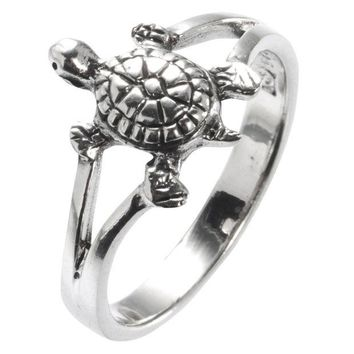LMFON Turtle Sterling Silver Ring