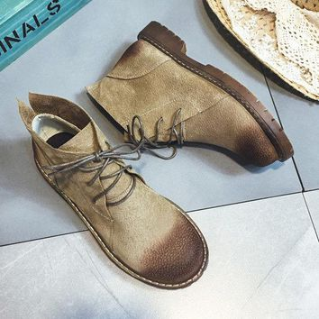 Suede Vintage Ankle Boots