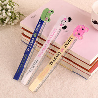15cm Cute Kawaii Plastic Ruler Creative Cartoon Cat Panda Frog Ruler For Kids Gift School Supplies Free Shipping 1306