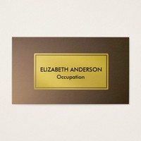 Chic Cocoa Brown Light Blender, Gold Business Card