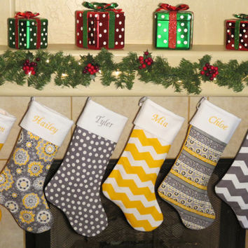 CHRISTMAS STOCKINGS * 40 Designer Stocking Fabrics * All Christmas Stockings Include Free Personalized Embroidery
