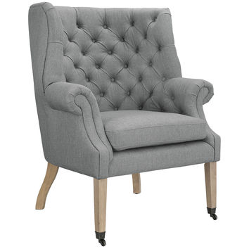 Chart Tufted Fabric Lounge Chair