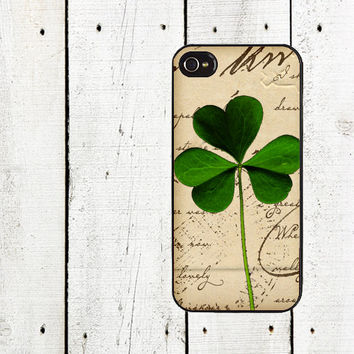 Vintage Shamrock iPhone Case  for iphone 44s and iPhone 5 by Arete