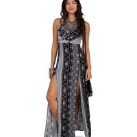 Sale- Black Urban Hippie Maxi Dress