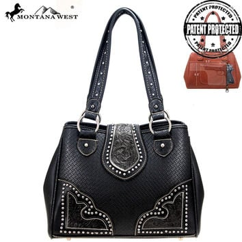 Montana West PAG-8336 Tooling Concealed Carry Handbag