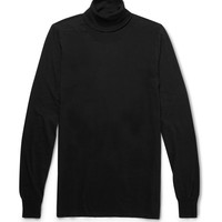Rick Owens - Cotton-Jersey Rollneck Sweater | MR PORTER