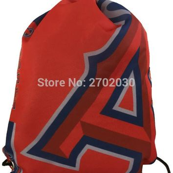 Anaheim Angels Drawstring Bags Men Sports Backpack Digital Printing Pouch Customize Bags 35*45cm Sports US Baseball Team