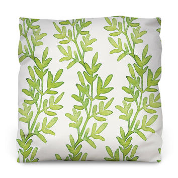 Growing Greens Outdoor Throw Pillow