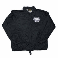 Vintage 90s Crime Scene Unit Coaches Jacket Mens Size Medium