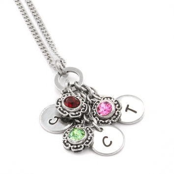 Dainty Mother's Birthstone Necklace