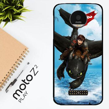 Toothless How To Train Your Dragon Y0783 Motorola Moto Z2 Play Case