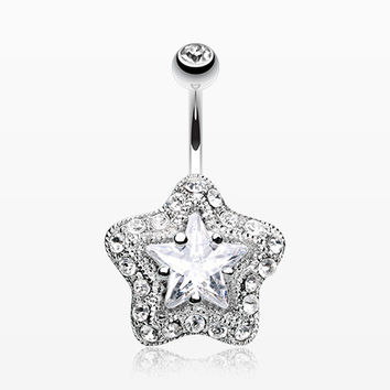 Star Extravagant Belly Button Ring