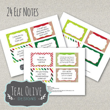 Elf Note Printables - Instant Download - 24 Notes
