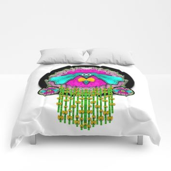love  me give me a home Comforters by Pepita Selles