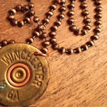 12 Gauge Single Shotgun Shell Pendent Necklace