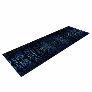 "Famenxt ""Night Queen Boho Mandala"" Multicolor Illustration Yoga Mat"