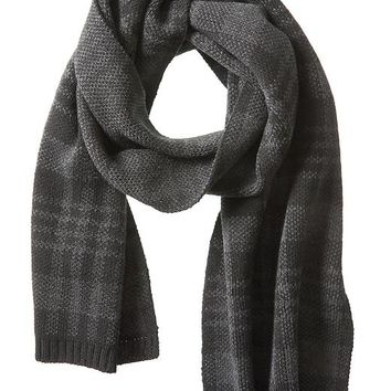 Banana Republic Factory Black Plaid Scarf Size One Size - Black/gray