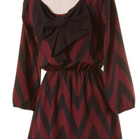 Game Day Bow Back Tunic Dress - Maroon and Black