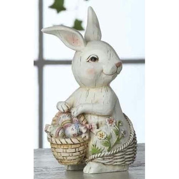 "4 Easter Bunny Figures - 5.91 "" H X 2.56 "" W X 3.54 "" D"