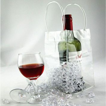 New Kitchen Useful Wine Beer Champagne Bucket Drink Pouch Bar Ice Bag Cooler Chiller Bag #58389