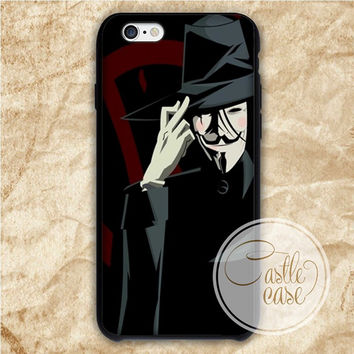 V for Vendetta iPhone 4/4S, 5/5S, 5C Series Hard Plastic Case