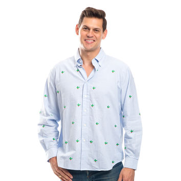 Holly Berry Embroidered Chase Shirt