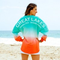 Great Lakes Unsalted · Shark Free - Sunrise Ombre - Spirit Football Jersey®