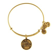 Alex and Ani Today Is An Opportunity Charm Bangle - Russian Gold