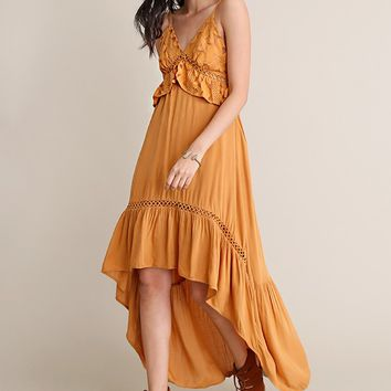 Saturn Sun Midi Dress | Threadsence
