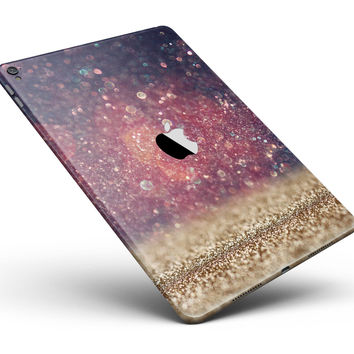 """Red and Blue Unfocused Orbs with Gold  Full Body Skin for the iPad Pro (12.9"""" or 9.7"""" available)"""