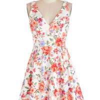 ModCloth Mid-length Sleeveless A-line Good Things Arose Dress