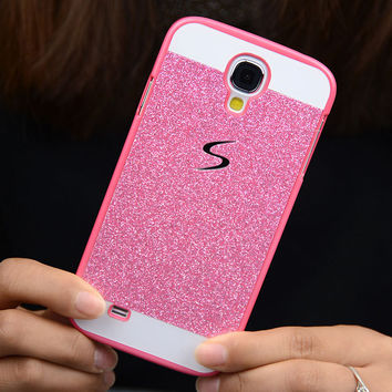 Luxury Glitter Case For Samsung Galaxy S4 s4 i9500 Sparkle Bling Skin Glam Hard Plastic Cell phone Case