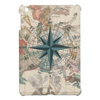 Compass on an Ancient Map iPad Mini Cases