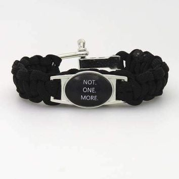 SANDEI fashion bracelet Black Lives Matter Don't Shoot I Can't Breathe Not One More Black Paracord friendship Bracelets