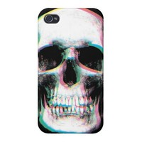 Trippy Colorful Skull iPhone Case
