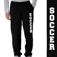 Soccer Fleece Sweatpants Youth Small on Black
