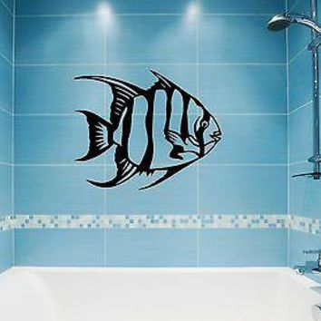 Wall Stickers Vinyl Decal Fish Ocean Marine Decor for Bathroom (ig908)